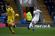 Joe Ward of Peterborough United in action during the EFL Sky Bet League 1 match between Oxford United and Peterborough United at the Kassam Stadium, Oxford, England on 16 February 2019.