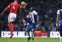 December 1, 2017 - Porto, Porto, Portugal - Porto's Cameroonian forward Vincent Aboubakar (R) vies with Benfica's Brazilian defender Luisao (L) during the Premier League 2016/17 match between FC Porto and SL Benfica, at Dragao Stadium in Porto on December 1, 2017. (Credit Image: © Dpi/NurPhoto via ZUMA Press)