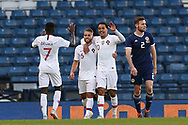 Portugal forward Helder Costa (10) (Wolverhampton Wanderers)  celebrates his goal 0-1 during the Friendly international match between Scotland and Portugal at Hampden Park, Glasgow, United Kingdom on 14 October 2018.