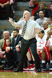 04 February 2012:  Coach Geno Ford during an NCAA Missouri Valley Conference mens basketball game where the Bradley Braves lost to the Illinois State Redbirds 78 - 48 in Redbird Arena, Normal IL