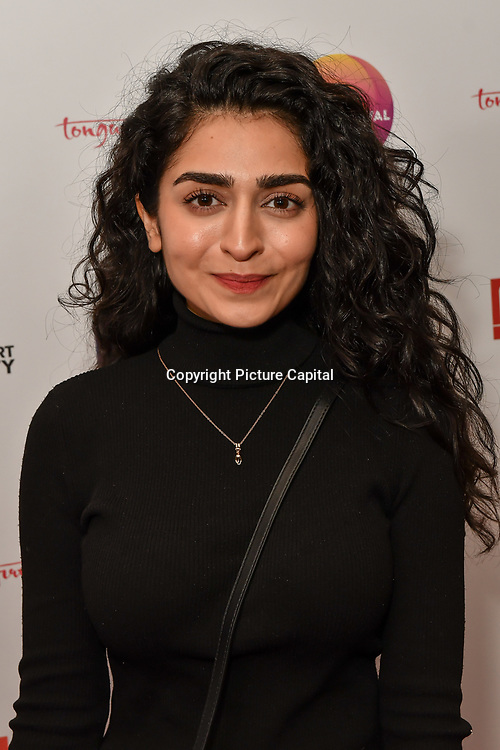 Hajra Khan is a actress - Pinky Memsaab attends the UK Asian Film Festival closing flame awards gala - Red Carpet at BAFTA 195 Piccadilly, on 7 April 2019, London, UK