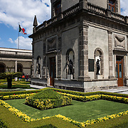 Gardens at Chapultepec Castle. Since construction first started around 1785, Chapultepec Castle has been a Military Academy, Imperial residence, Presidential home, observatory, and is now Mexico's National History Museum (Museo Nacional de Historia). It sits on top of Chapultepec Hill in the heart of Mexico City.