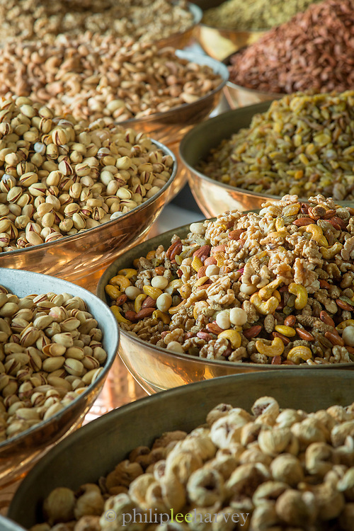 Nuts and seeds at Sadaf Iranian Sweets shop, United Arab Emirates