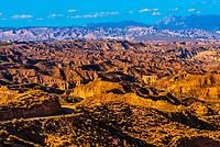 Canyons, Gorafe Depression, Gorafe Megalithic Park, near Gorofe, Granada Province, Andalusia, Spain.