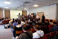 Journalists at presentation of Eurobasket Slovenia 2013, on September 8, 2011, in Hotel Novotel,  Vilnius, Lithuania.   (Photo by Vid Ponikvar / Sportida)
