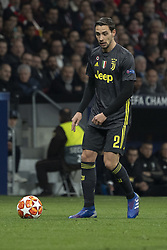 February 21, 2019 - Madrid, Madrid, Spain - Mattia De Sciglio of Juventus  during UEFA Champions League round of 16 soccer match between Atletico Madrid and Juventus at Wanda Metropolitano Stadium in Madrid, Spain on February 20, 2019 Photo: Oscar Gonzalez/NurPhoto  (Credit Image: © Oscar Gonzalez/NurPhoto via ZUMA Press)