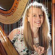 Abigail Syme (16) from Overtown was awarded 1st place in Non-traditional Clarsach/Pedal Harp Solos- open at Glasgow Music Festival in Renfield St Stephen's Church Centre. Picture Robert Perry for The Herald and  Evening Times 6th March 2016<br /> <br /> Must credit photo to Robert Perry<br /> <br /> FEE PAYABLE FOR REPRO USE<br /> FEE PAYABLE FOR ALL INTERNET USE<br /> www.robertperry.co.uk<br /> NB -This image is not to be distributed without the prior consent of the copyright holder.<br /> in using this image you agree to abide by terms and conditions as stated in this caption.<br /> All monies payable to Robert Perry<br /> <br /> (PLEASE DO NOT REMOVE THIS CAPTION)<br /> This image is intended for Editorial use (e.g. news). Any commercial or promotional use requires additional clearance. <br /> Copyright 2016 All rights protected.<br /> first use only<br /> contact details<br /> Robert Perry     <br /> 07702 631 477<br /> robertperryphotos@gmail.com<br />         <br /> Robert Perry reserves the right to pursue unauthorised use of this image . If you violate my intellectual property you may be liable for  damages, loss of income, and profits you derive from the use of this image.