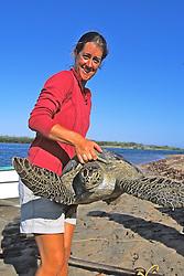 Louise Brooks & Black Sea Turtle