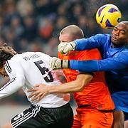 NLD/Amsterdam/20121114 - Vriendschappelijk duel Nederland - Duitsland, Kenneth Vermeer, Ron Vlaar en Mats Hummels
