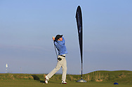 Greg O'Mahony on the 1st tee during Round 4 of The West of Ireland Open Championship in Co. Sligo Golf Club, Rosses Point, Sligo on Sunday 7th April 2019.<br /> Picture:  Thos Caffrey / www.golffile.ie
