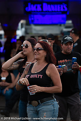 Concert goers by the Laconia Roadhouse main stage during Laconia Motorcycle Week. NH, USA. Saturday, June 16, 2018. Photography ©2018 Michael Lichter.