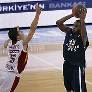 Anadolu Efes's Oliver Lafayette (R) during their Euroleague Top 16 basketball match Galatasaray MP between Anadolu Efes at the Abdi Ipekci Arena in Istanbul at Turkey on Wednesday, February, 22, 2012. Photo by TURKPIX