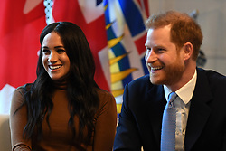 January 7, 2020, London, London, United Kingdom: Image licensed to i-Images Picture Agency. 07/01/2020. London, United Kingdom. Prince Harry and Meghan Markle, the Duke and Duchess of Sussex,  at Canada House in London after returning from their six week break from Royal duties. (Credit Image: © Pool/i-Images via ZUMA Press)