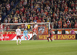 October 30, 2017 - Harrison, New Jersey, United States - Damien Perrinelle (55) of Red Bulls defends during MLS Cup first leg game against Toronto FC at Red Bull Arena Toronto won 2 - 1  (Credit Image: © Lev Radin/Pacific Press via ZUMA Wire)