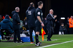 February 11, 2019 - Wolverhampton, England, United Kingdom - A angry Rafa Benitez Manager of Newcastle United during the Premier League match between Wolverhampton Wanderers and Newcastle United at Molineux, Wolverhampton on Monday 11th February 2019. (Credit Image: © Mi News/NurPhoto via ZUMA Press)