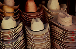 Stacks of cowboy hats