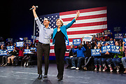 Brooklyn, NY - 7 January 2020. Massachusetts Senator and Democratic Presidential candidate Elizabeth Warren, joined by former candidate Julián Castro, drew a large and enthusiastic crowd at a speech for her 2020 presidential campaign in Brooklyn's Kings Theatre. Castro and Warren on stage together.