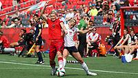 Fotball <br /> VM kvinner<br /> 11.06.2015<br /> Norge v Tyskland 1:1<br /> Foto: imago/Digitalsport<br /> NORWAY ONLY<br /> <br /> v.li.: Alexandra Popp (Deutschland), Kristine Minde (NOR)