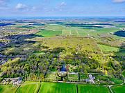 Nederland, Noord-Holland, Heiloo, 07-05-2021; Kennemerstraatweg, Heilooërbos met Huis Nijenburg. Gezien naar de Noodzee. Landgoed Nijnenburg is een 18e-eeuwse buitenplaats.<br /> Kennemerstraatweg, Heiloo woods, with Huis Nijenburg. Landgoed Nijnenburg is an 18th-century country estate.<br /> <br /> luchtfoto (toeslag op standaard tarieven);<br /> aerial photo (additional fee required)<br /> copyright © 2021 foto/photo Siebe Swart