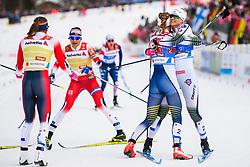 February 24, 2019 - Seefeld In Tirol, AUSTRIA - 190224 Maja Dahlqvist of Sweden and Stina Nilsson of Sweden celebrates after competing in women's team sprint final during the FIS Nordic World Ski Championships on February 24, 2019 in Seefeld in Tirol..Photo: Joel Marklund / BILDBYRN / kod JM / 87888 (Credit Image: © Joel Marklund/Bildbyran via ZUMA Press)
