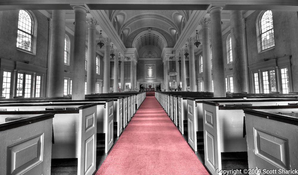 Inside the Central Union Church in Honolulu.