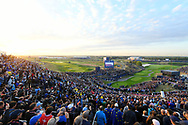 Illustration 1st tee during the friday morning fourballs session of Ryder Cup 2018, at Golf National in Saint-Quentin-en-Yvelines, France, September 28, 2018 - Photo Philippe Millereau / KMSP / ProSportsImages / DPPI