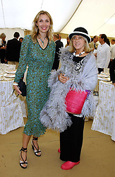 Left to right, ALLEGRA HICKS and TESSA KENNEDY  at the 2005 Cartier International Polo between England & Australia held at Guards Polo Club, Smith's Lawn, Windsor Great Park, Berkshire on 24th July 2005.<br /><br />NON EXCLUSIVE - WORLD RIGHTS