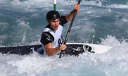 September 15, 2018 - London, Greater London, United Kingdom - Eren Yalkin of Lee Valley PC compete in K1 Men.during Canoe Slalom UK Championships at Lee Valley White Water Centre  , London, England on 15 Sept 2018. (Credit Image: © Action Foto Sport/NurPhoto/ZUMA Press)