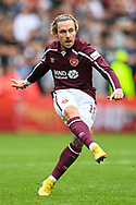 Barrie McKay (#18) of Heart of Midlothian FC during the Cinch SPFL Premiership match between Heart of Midlothian and Hibernian at Tynecastle Park, Edinburgh, Scotland on 12 September 2021.