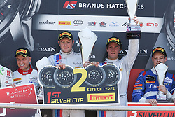 May 6, 2018 - Brands Hatch, Grande Bretagne - 37 3Y TECHNOLOGY (FRA) BMW M6 GT3 ANDREW WATSON (GBR) LUKAS MORAES (BRA) WINNERS IN SILVER CUP (Credit Image: © Panoramic via ZUMA Press)