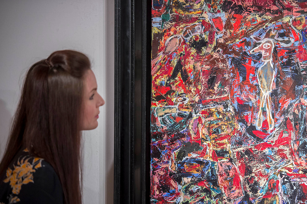 JEAN DUBUFFET (1901-1985)<br /> Cote Chipote<br /> Painted in 1961.<br /> Estimate on Request - Christie's showcases  the London Post-War and Contemporary Art Evening Sale in October, alongside an exceptional selection of works from the  New York sales in November of Impressionist, Modern, Post-War And  Contemporary Art. The works will be on view to the public from Saturday 10 October to Saturday 17 October at Christie's King Street. The highlight is  Amedeo Modigliani's, 'Nu couché (Reclining  Nude)', painted in 1917-18, which has an estimate in the region of $100 million.