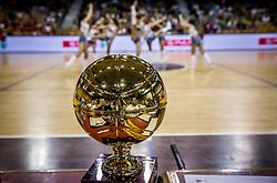 Trophy during basketball match between KK Union Olimpija and KK Rogaska in 2nd Final game of Liga Nova KBM za prvaka 2016/17, on May 19, 2017 in Hala Tivoli, Ljubljana, Slovenia. Photo by Vid Ponikvar / Sportida