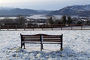 Footsteps in the snow...Carrauntoohill Mountain in Snow viewed from Aghadoe, Killarney.<br /> Photo Don MacMonagle