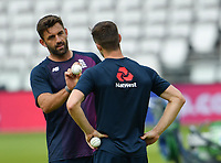 Cricket - 2019 ICC Cricket World Cup - pre-Final practice & press conferences<br /> <br /> England's Liam Plunkett in conversation with Chris Woakes, at Lords.<br /> <br /> COLORSPORT/ASHLEY WESTERN