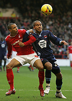 Photo: Paul Thomas.<br /> Nottingham Forest v Leyton Orient. Coca Cola League 1. 16/12/2006.<br /> <br /> Forest's Nathan Tyson (L) battles with Adam Chambers for the ball.