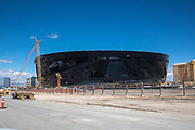 General view of construction at Allegiant Stadium amid the global coronavirus COVID-19 pandemic, Monday, March 23, 2020, in Las Vegas. (Brandon Sloter/Image of Sport)