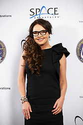 © Licensed to London News Pictures. 10/03/2015. LONDON, UK. Sarah Brightman posing at Ham Yard Hotel in London after a news conference on her plan to travel as a space tourist to the International Space Station for 10 days for £35m. Photo credit : Tolga Akmen/LNP