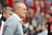 Newly appointed Rotherham United manager Neil Redfearn before kick off in the Sky Bet Championship match between Brentford and Rotherham United at Griffin Park, London, England on 17 October 2015. Photo by Andy Walter.