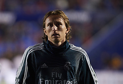 February 24, 2019 - Valencia, Valencia, Spain - Luka Modric of Real Madrid prior the La Liga match between Levante and Real Madrid at Estadio Ciutat de Valencia on February 24, 2019 in Valencia, Spain. (Credit Image: © Maria Jose Segovia/NurPhoto via ZUMA Press)