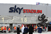 General view of the entrance to Sky Stadium ahead of the Bledisloe Cup rugby union test match between the New Zealand All Blacks and Australia Wallabies. Sky Stadium, Wellington, Sunday 11 October 2020. © image by Andrew Cornaga / www.photosport.co.nz