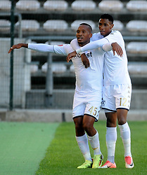 Cape Town 18-02-24 Lehlohonolo Majoro celebrating his goal against Cape Town City in the PSL Game In Athlone Staduim Pictures Ayanda Ndamane African news agency/ANA