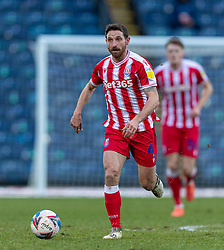 BLACKBURN, ENGLAND - Saturday, January 16, 2021: Stoke City's Joe Allen during the Football League Championship match between Blackburn Rovers FC and Stoke City FC at Ewood Park. The game ended in a 1-1 draw. (Pic by David Rawcliffe/Propaganda)