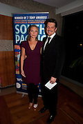 SAMANTHA WOMACK; PAULO SZOT, South Pacific First night party. The Barbican. London. 23 August 2011. <br /> <br />  , -DO NOT ARCHIVE-© Copyright Photograph by Dafydd Jones. 248 Clapham Rd. London SW9 0PZ. Tel 0207 820 0771. www.dafjones.com.