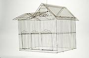Floating house shaped birdcage
