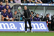 Francesco Guidolin, the Swansea city manager looks on.Premier league match, Swansea city v Manchester city at the Liberty Stadium in Swansea, South Wales on Saturday 24th September 2016.<br /> pic by Andrew Orchard, Andrew Orchard sports photography.