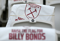 A general view of chairs in the new Billy Bonds stand during the Premier League match at London Stadium.