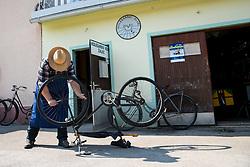 A cyclist at Kolesarski Klub Zalec during 3rd Stage of 26th Tour of Slovenia 2019 cycling race between Zalec and Idrija (169,8 km), on June 21, 2019 in Slovenia. Photo by Matic Klansek Velej / Sportida