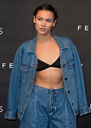 Sinead Harnett arrives at the Fenty Beauty by Rihanna launch party at Harvey Nichols, Knightsbridge, London,