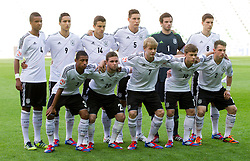 Team photo of Germany: (standing row L-R) Marian Sarr of Germany, Said Benkarit of Germany, Marc Oliver Kempf of Germany, Niklas Suele of Germany, Oliver Schnitzler of Germany and Leon Goretzka of Germany, (first row L-R) Jeremy Dudziak of Germany, Marc Stendera of Germany, Julian Brandt of Germany, Maximilian Meyer of Germany and Pascal Itter of Germany during the UEFA European Under-17 Championship Group A match between Iceland and Germany on May 7, 2012 in SRC Stozice, Ljubljana, Slovenia. Germany defeated Iceland 1-0. (Photo by Vid Ponikvar / Sportida.com)