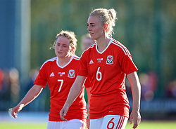 YSTRAD MYNACH, WALES - Wednesday, April 5, 2017: Wales' Sophie Ingle walks off the pitch after the 3-1 win in the Women's International Friendly match against Northern Ireland at Ystrad Mynach. (Pic by Laura Malkin/Propaganda)